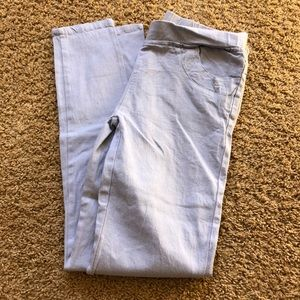 Pants - grey white jeggings with front and back pockets